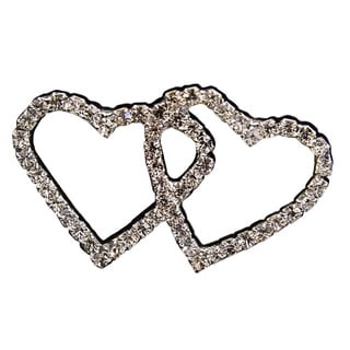 Classic Double Hearts Silver Bouquet Jewelry