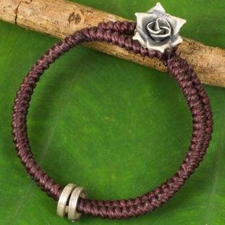 Handmade Sterling Silver 'Marshall Rose' Bracelet (Thailand)
