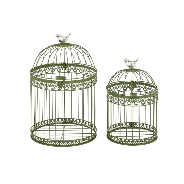 Acrylic Bird Cages (Set Of 2)