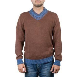 Handmade Men's Alpaca Blend 'Orcopampa Prowler' Sweater (Peru)