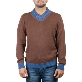 Handmade Men's Alpaca Blend 'Orcopampa Prowler' Sweater (Peru) (2 options available)