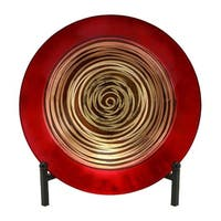 Oliver & James Buri Red and Gold Metal Bowl