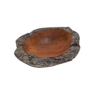 Brown Teak Wood Decorative Bowl