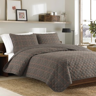 Eddie Bauer Inglewood Tan Cotton 3-piece Quilt Set
