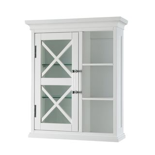 Grayson Wall Cabinet with one Door and Cubbies by Elegant Home Fashions