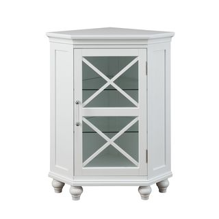 Grayson Corner Floor Cabinet by Elegant Home Fashions