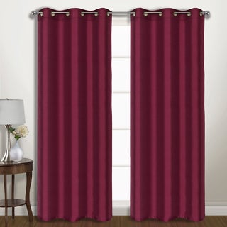 Vintage Faux Silk Wide-width Blackout Curtain Panel Pair