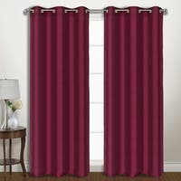 Luxury Collection Vintage Faux Silk Wide-width Blackout Curtain Panel Pair