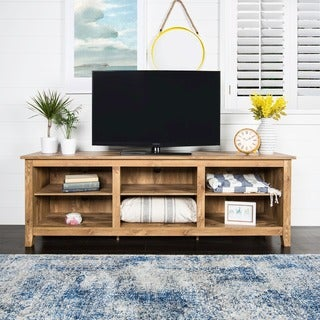 Awesome Essentials Barnwood 70 Inch TV Media Stand Part 28