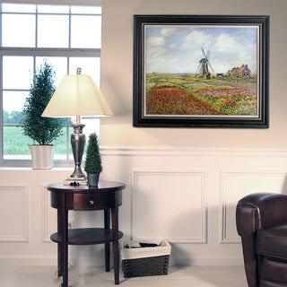 Oscar-Claude Monet 'Fields of Tulip with the Rijnsburg Windmill' 1886 Canvas Art