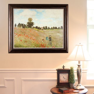 Claude Monet 'Poppy Field' Framed Wall Art