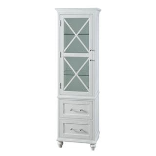 Grayson Linen Tower with 2 Drawers by Elegant Home Fashions