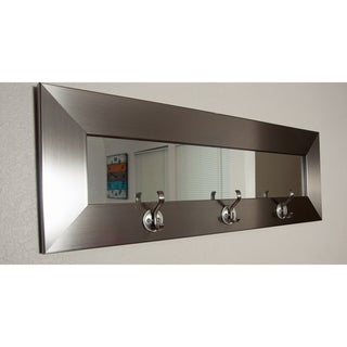Last Look Silver Stainless 32-inch 3-hook Mirror