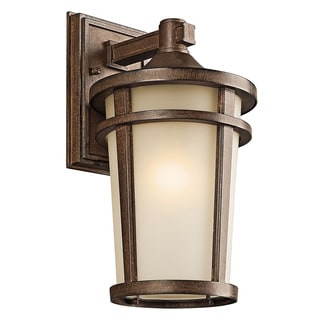 Kichler Lighting Atwood Collection 1-light Brown Stone Outdoor Wall Lantern