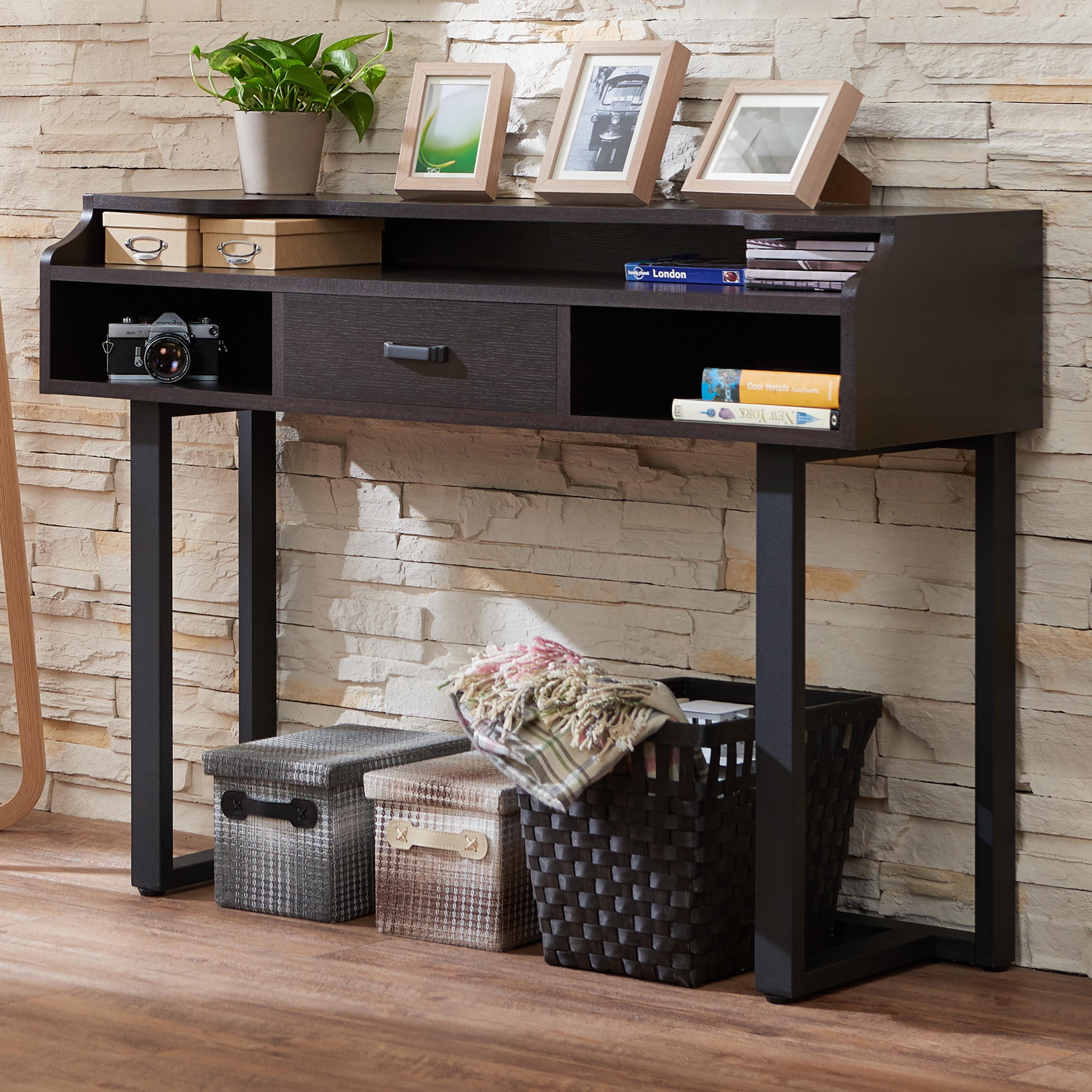 Furniture of America Tylene Modern Espresso Console Table...