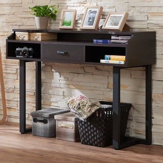 Furniture of America Tylene Modern Espresso Console Table