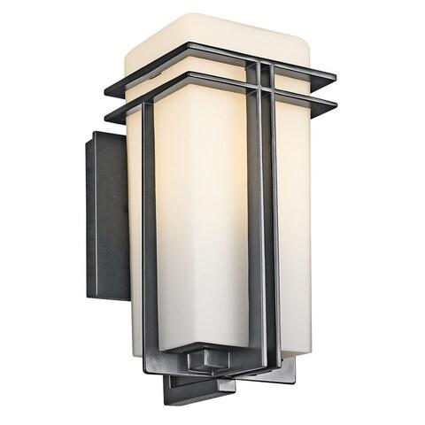 Kichler Lighting Tremillo Collection 1-light Black Outdoor Wall Lantern