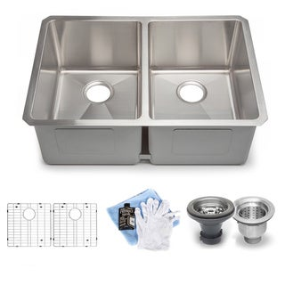 Hahn Handmade Chef Series XL 60/40 Double Bowl Sink