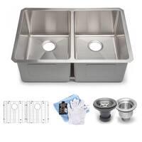 Hahn Handmade Chef Series XL 60/40 Double Bowl Sink