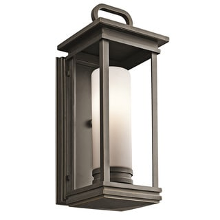 Kichler Lighting South Hope Collection 1-light Rubbed Bronze Outdoor Wall Lantern