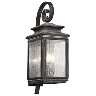Kichler Lighting Wiscombe Park Collection 4-light Weathered Zinc Outdoor Wall Lantern