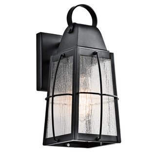 Kichler Lighting Tolerand Collection 1 Light Textured Black Outdoor Wall  Lantern