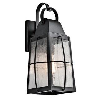 Kichler Lighting Tolerand Collection 1-light Textured Black Outdoor Wall Lantern