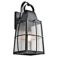 Kichler Lighting Tolerand Collection 1-light Textured Black Outdoor Wall Lantern