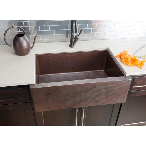 Hahn Copper 22 Inch X 33 Inch X 10.5 Inch Extra Large Single Farmhouse Sink    Free Shipping Today   Overstock.com   18884850