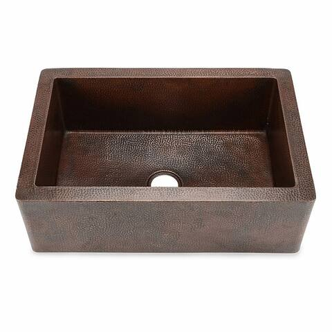 Hahn Copper 22-inch x 33-inch x 10.5-inch Extra-large Single Farmhouse Sink