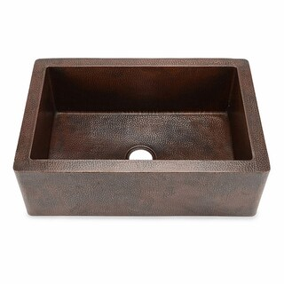 Hahn Copper 22-inch x 33-inch x 10.5-inch Extra-large Single Farmhouse Sink