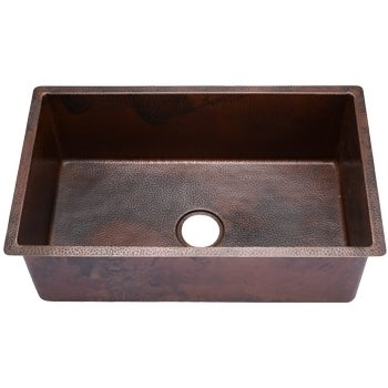 hahn copper extra large single bowl undermount sink - free