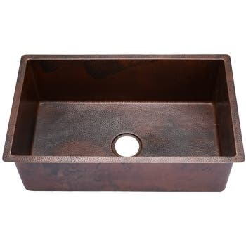 Hahn Copper Extra Large Single Bowl Undermount Sink