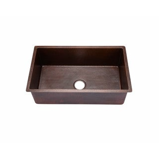 Hahn Copper 18-inch x 30-inch x 10-inch Large Undermount Single-bowl Sink