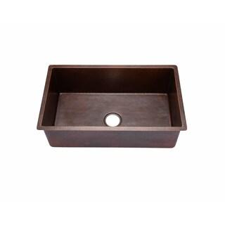 Hahn Copper 18-inch x 30-inch x 10-inch Large Undermount Single-bowl Sink