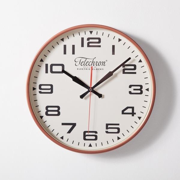 Hans Andersen Bedford Copper Metal/Glass 13.75-inch Wall Clock
