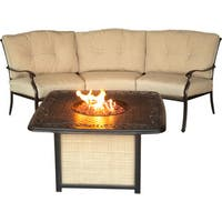 Hanover Outdoor TRADITIONS2PCFP Traditions 2-piece Seating Set with Cast-top Fire Pit