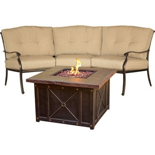 Hanover Outdoor TRADDURA2PCFP Traditions 2-piece Chat Set with Durastone Fire Pit