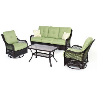 Hanover ORLEANS4PCSW Orleans Avocado Green Aluminum/Polyester 4-Piece All-weather Patio Set