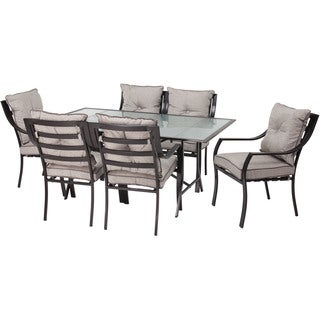 Hanover Outdoor Lavallette Grey 7 Piece Outdoor Dining Set