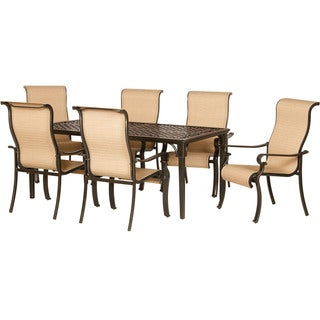 Hanover Brigantine Seven-Piece Outdoor Dining Set with Cast-top Table