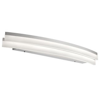 Dainolite Silver Polished Chrome 27-watt LED Curved Vanity Fixture
