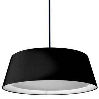 Dainolite Black 22-watt LED Tapered Drum Shade