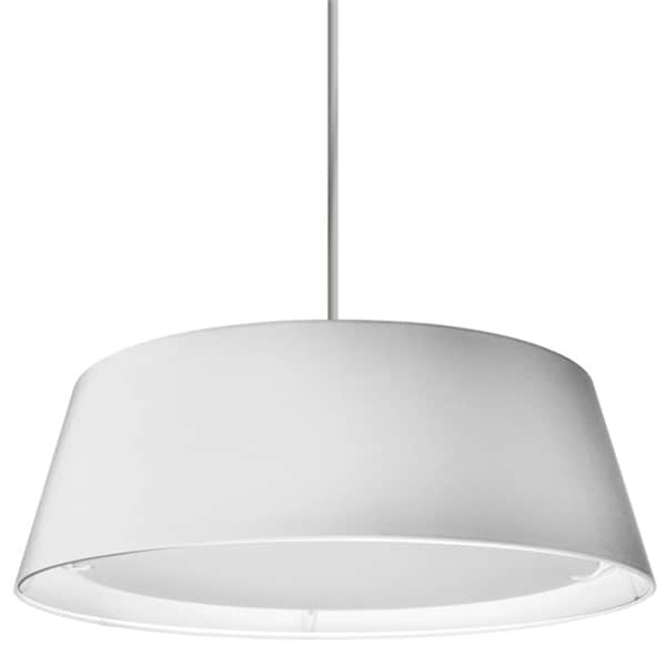 Dainolite White Steel 22-watt LED Tappered Drum Shade