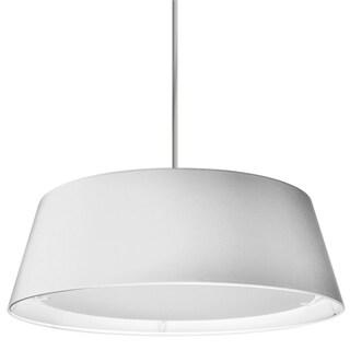Dainolite White Steel 22-watt LED Tappered Drum Shade