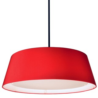 Dainolite Red Steel 22-watt LED Tappered Drum Shade