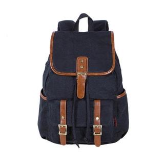 Kaukko Black/Khaki Canvas Hiking/Camping Backpack