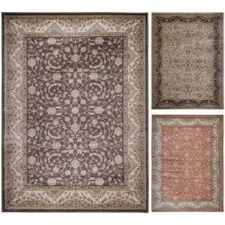 Admire Home Living Gallina Vines Beige/Terracotta/Brown Olefin Area Rug (5'3 x 7'3)