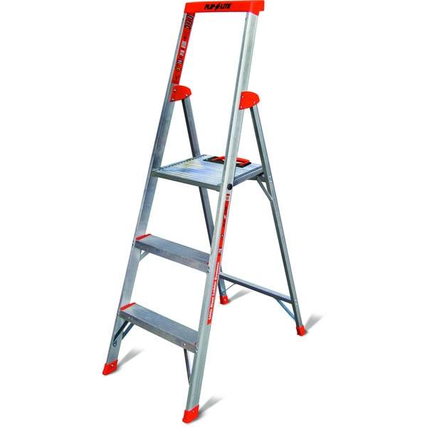 shop little giant flip n lite model 5 lightweight aluminum step ladder on sale free shipping. Black Bedroom Furniture Sets. Home Design Ideas