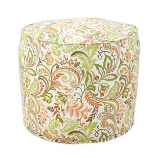 Findlay Apricot Linen 20-inch Round x 17-inch High Corded Bead-filled Hassock